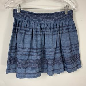 American Eagle Outfitters Chambray Mini Skirt Sz 0